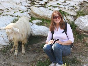 daß Ziegen meistens lange Haare haben